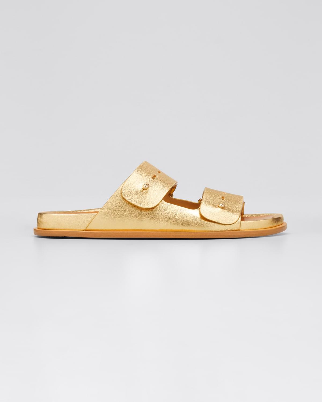 Samira Leather Slide Sandals