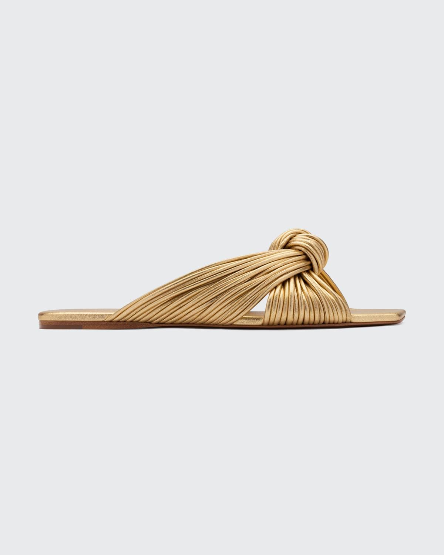 Bianca Strappy Knot Flat Slide Sandals