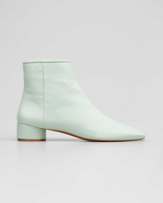 Mathilda Leather Zip Booties