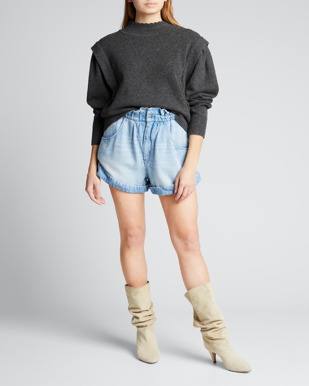 Lucile Wool Mock-Neck Sweater