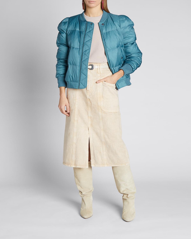 Cody Zip-Front Puffer Jacket