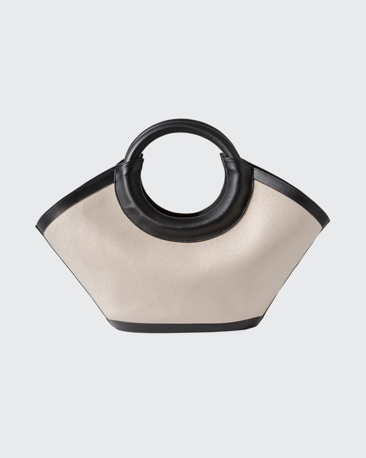 Cabasso Small Canvas Top Handle Tote Bag
