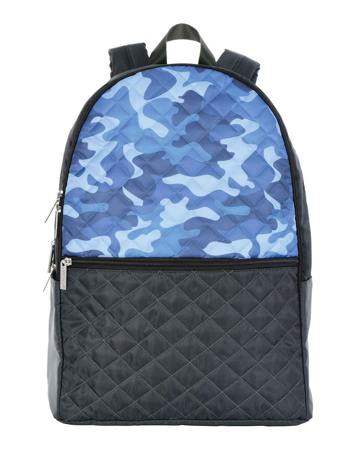 Boy's Camo-Print Faux Leather Quilted Backpack