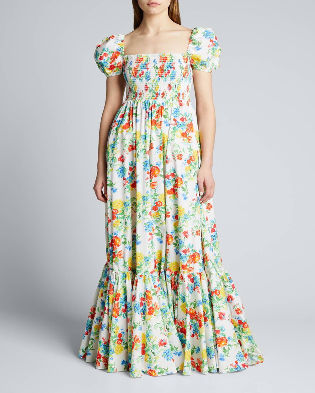 Giana Smocked Flare Dress