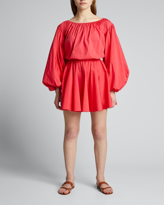 Charli Puff-Sleeve Short Dress