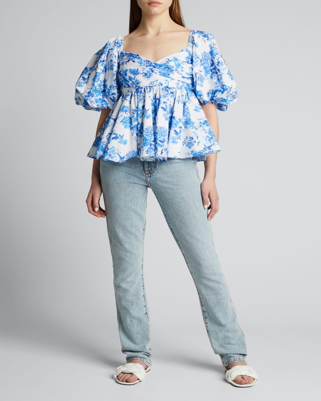 Brie Floral-Print Top