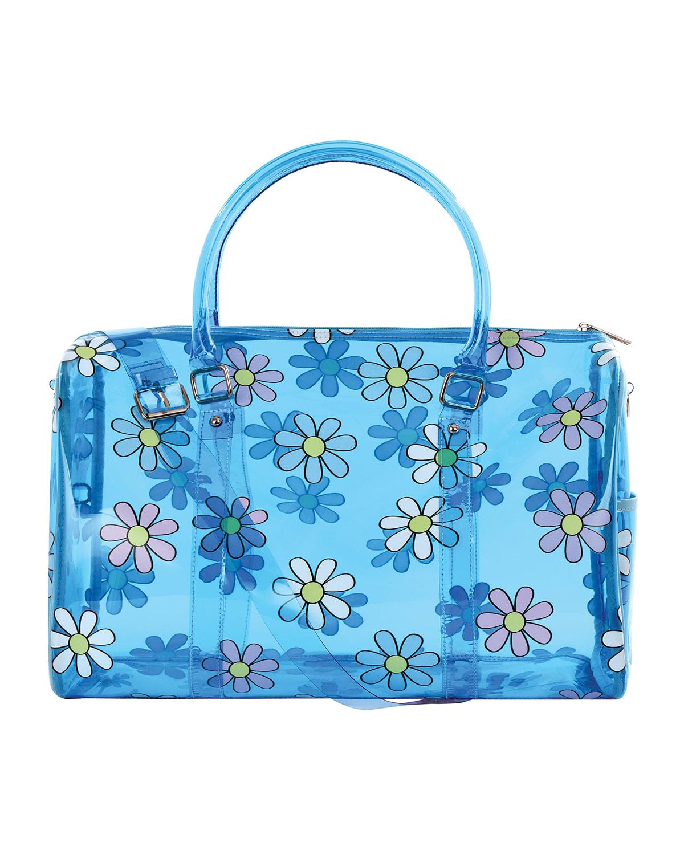 Girl's Daisy-Print Clear Duffle Bag
