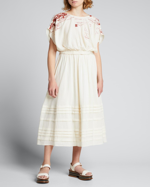 Marcia Pleated Midi Skirt