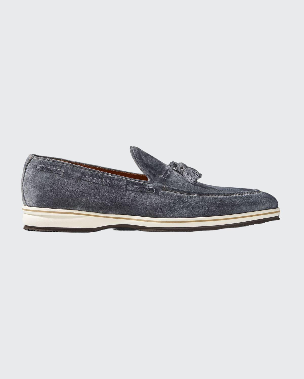 Men's Tassel Suede Loafers