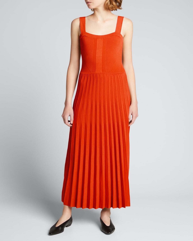 Knit Tank Pleated Dress