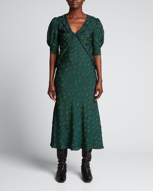 Abstract-Printed Cady Midi Dress