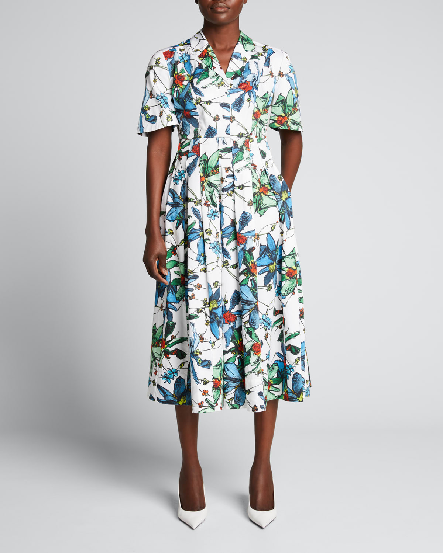 Floral-Print Day Dress