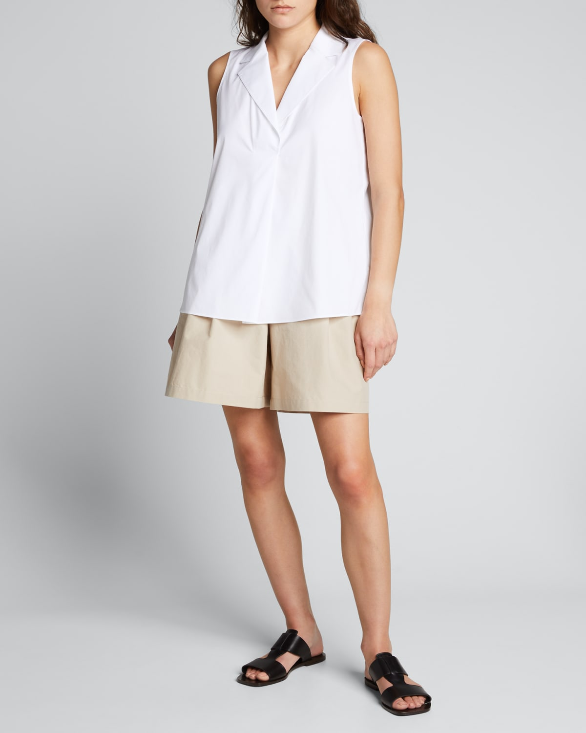 Leroy Pleated-Front Shorts