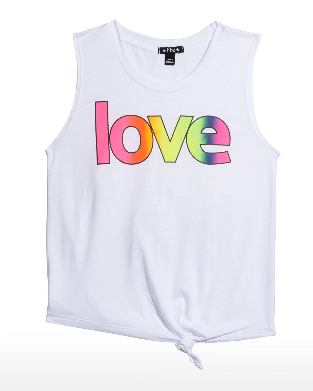 Girl's Love Tie-Front Tank Top