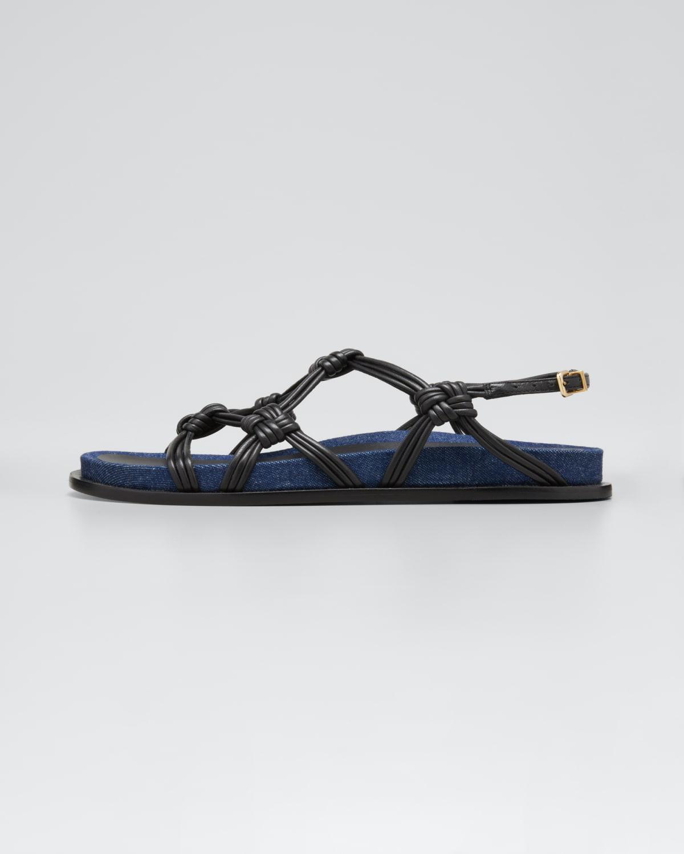 Deandra Anatomic Knot Slingback Sandals