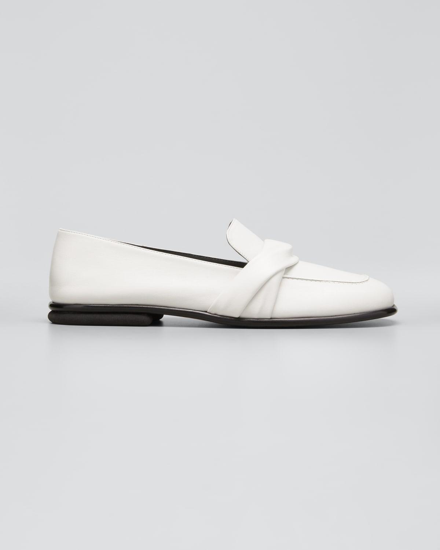 Emma Twisted Calfskin Loafers