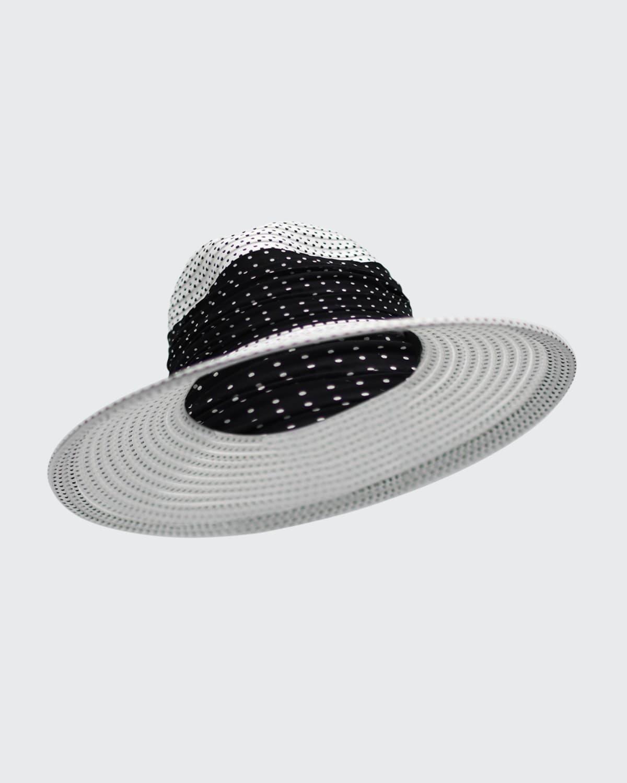 Pindot Sheer Stripe Fedora