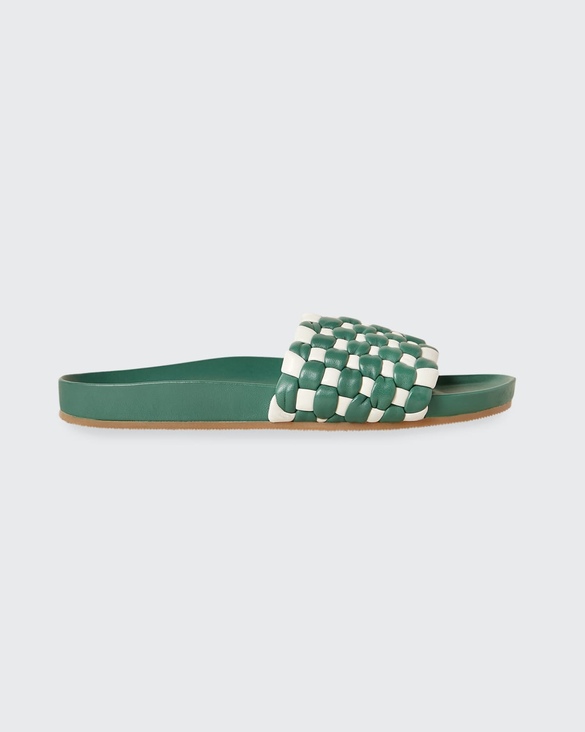 Sonnie Bicolor Woven Lambskin Pool Sandals