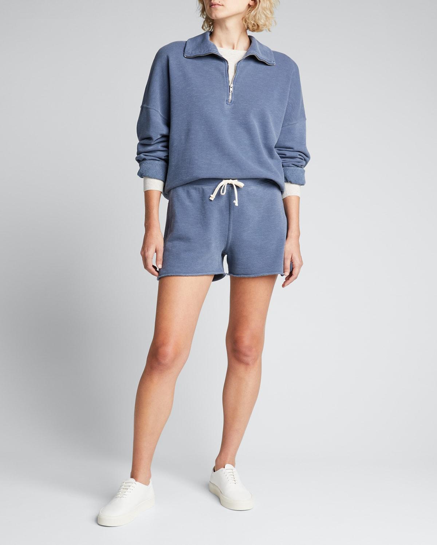 Half-Zip Collared Sweatshirt