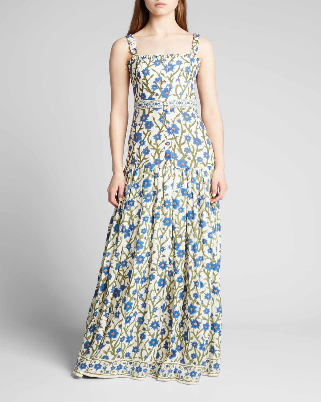 Avellana Floral Button-Down Maxi Dress