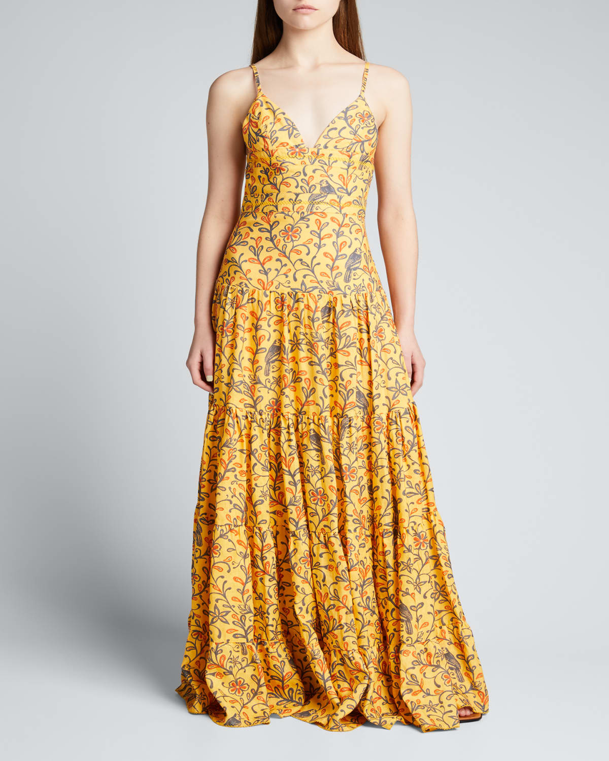 Narciso Tiered Linen Maxi Dress