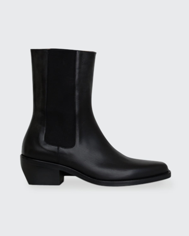 Calfskin Western Chelsea Mid Boots