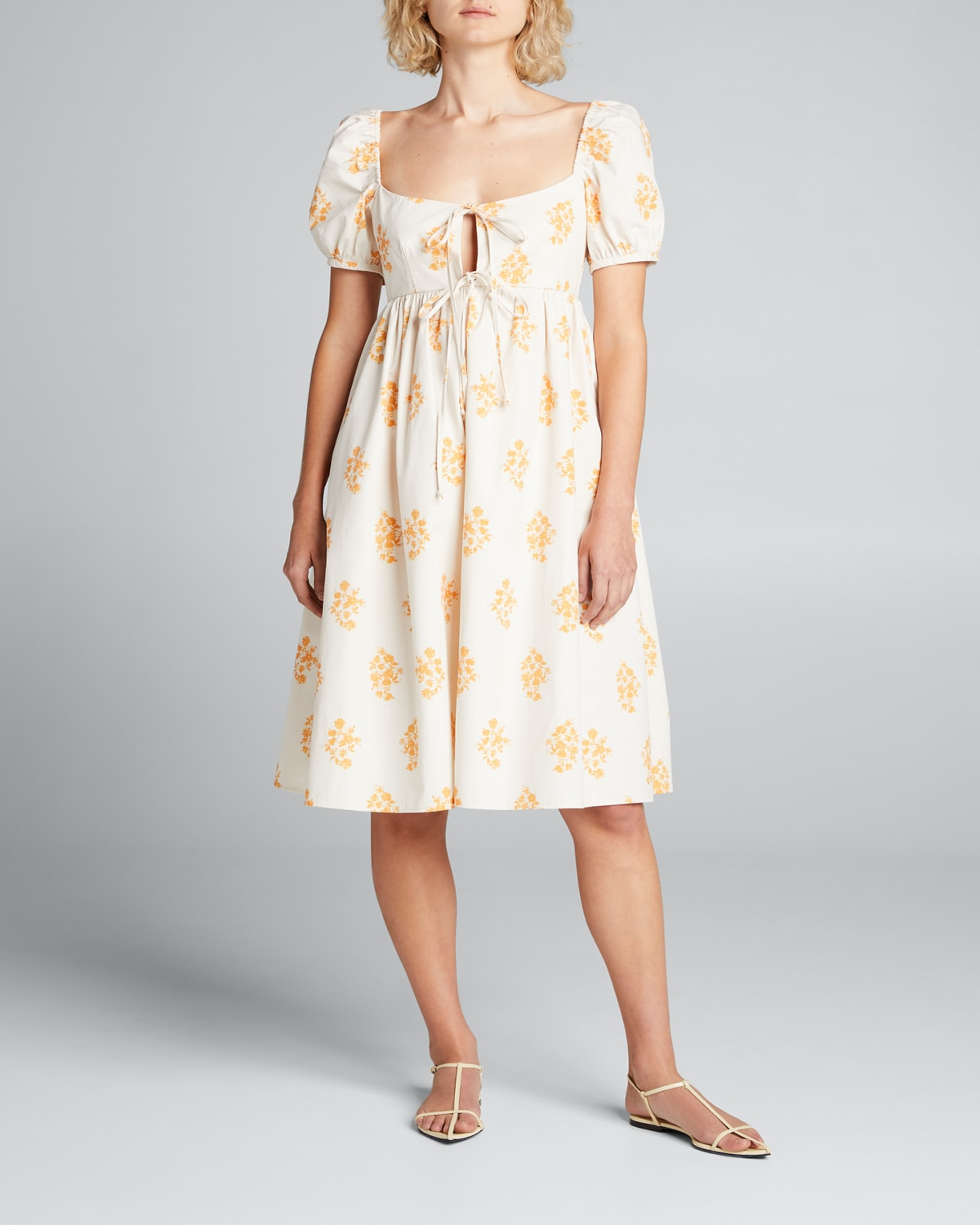 Alessia Printed Tie-Front Dress