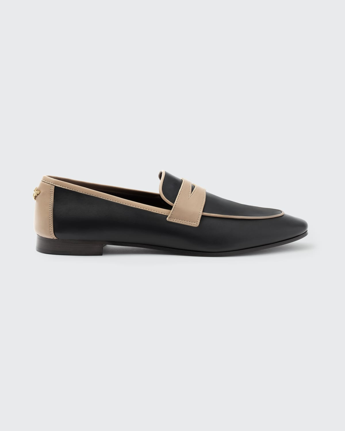 Bicolor Leather Slip-On Penny Loafers
