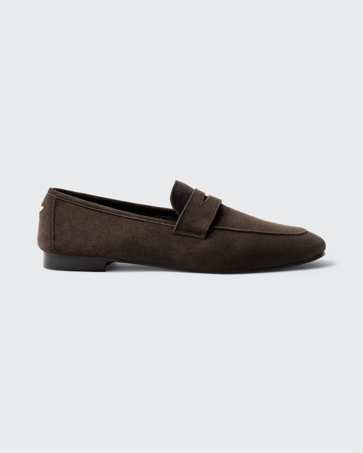 Suede Shearling Slip-On Penny Loafers