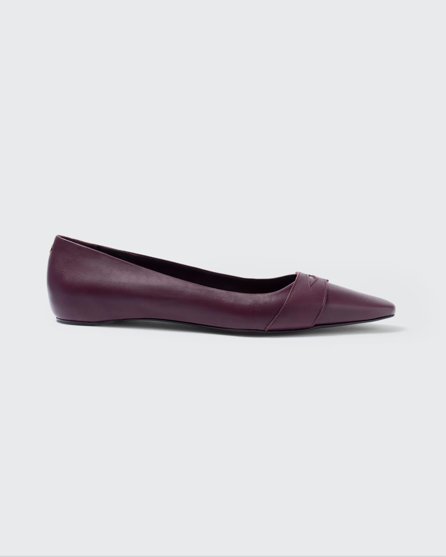 Calfskin Leather Ballerina Flats