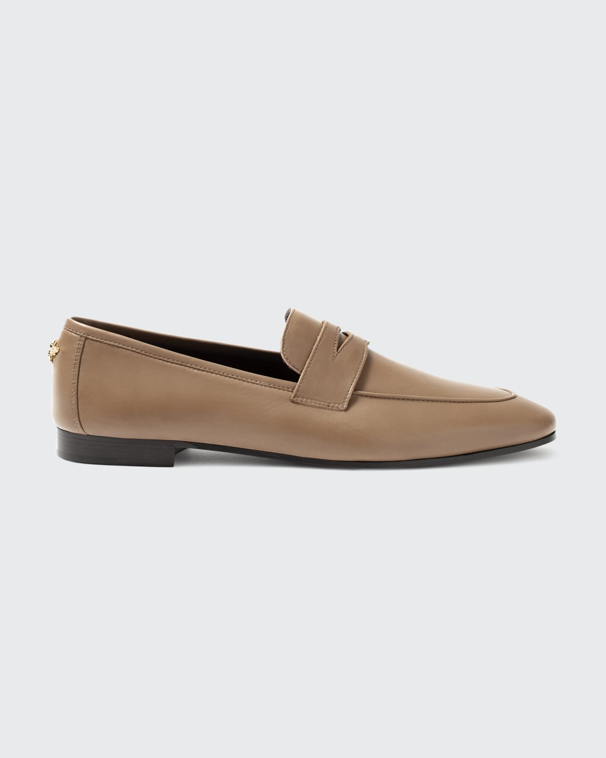 Leather Slip-On Penny Loafers