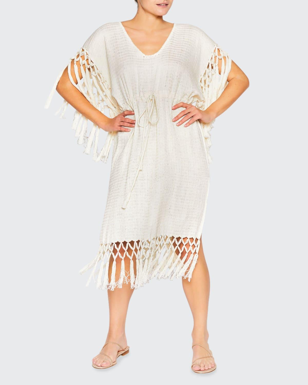 Pilar Short Macrame Beach Dress
