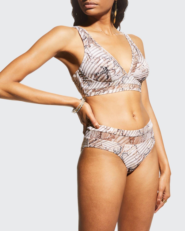 Awakening Snake-Print Underwire Bikini Top (D-DD)