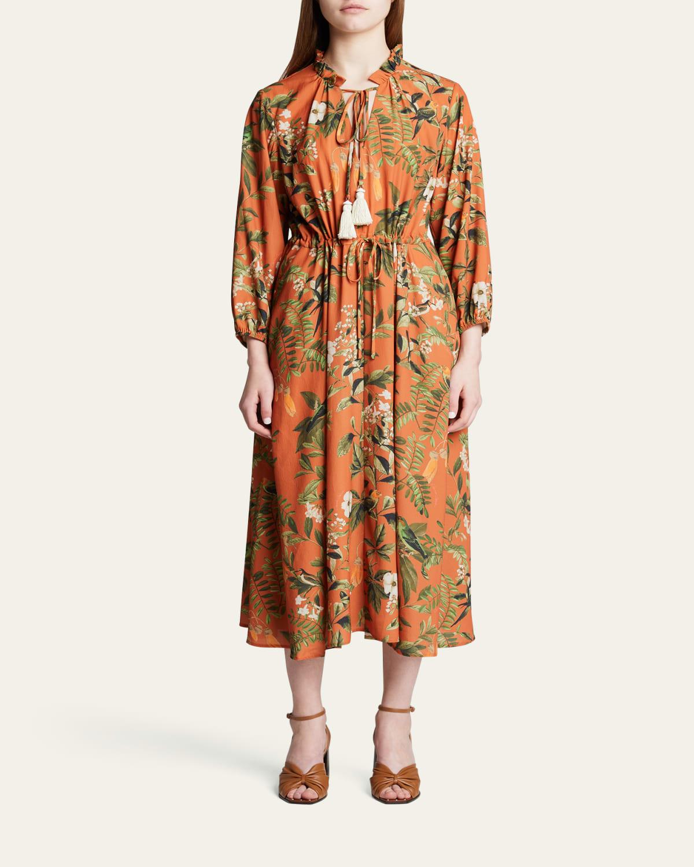 Tanglewood Botanical-Print Midi Dress
