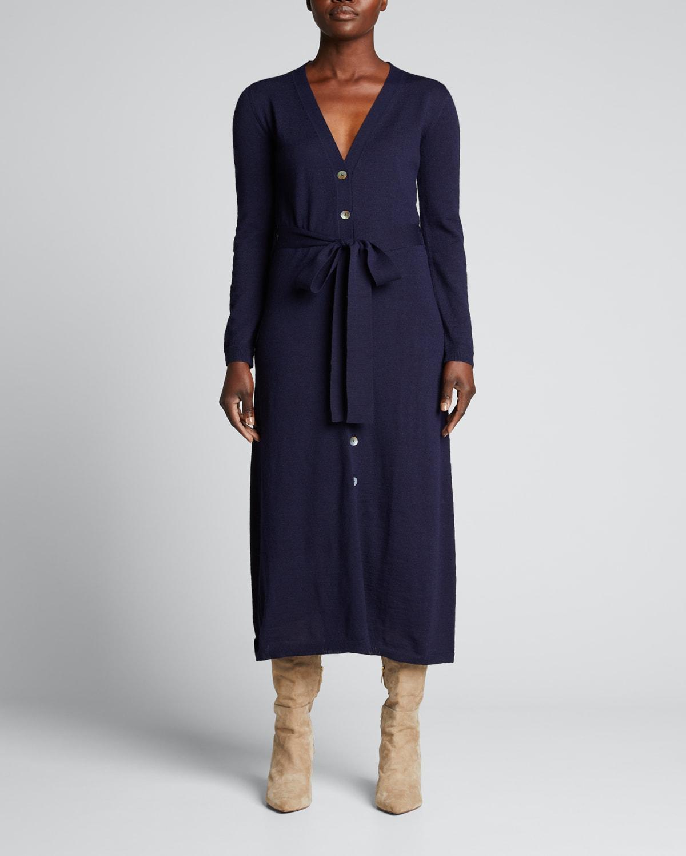 Frances Button-Front Sweater Dress