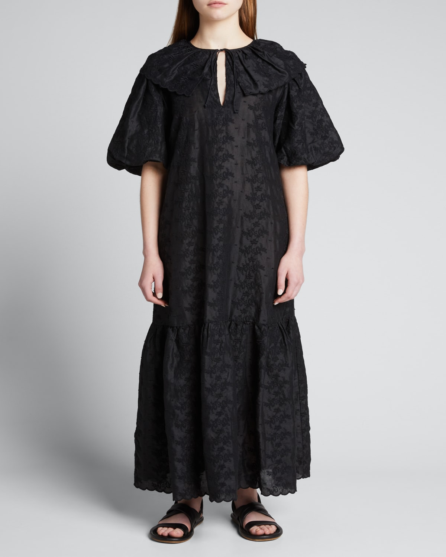Majka Embroidered Maxi Dress