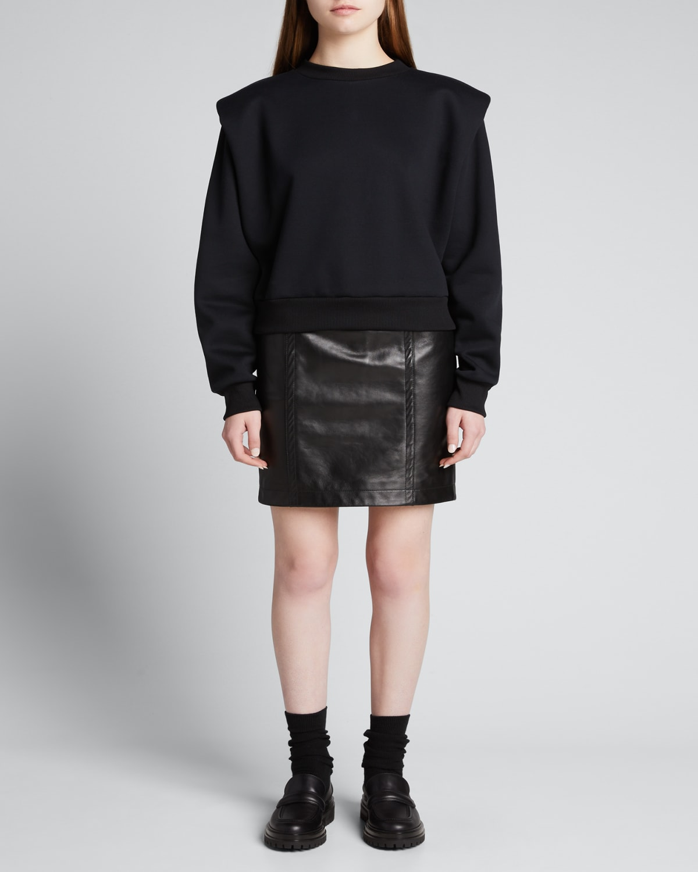 Wanda Padded-Shoulder Sweatshirt