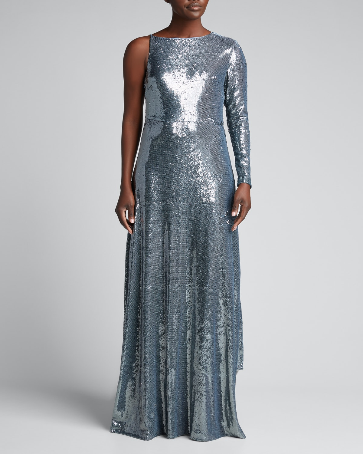 Emerson One-Sleeve Sequin Gown