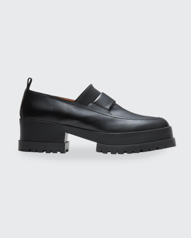 Waelly Leather Lug-Sole Platform Loafers