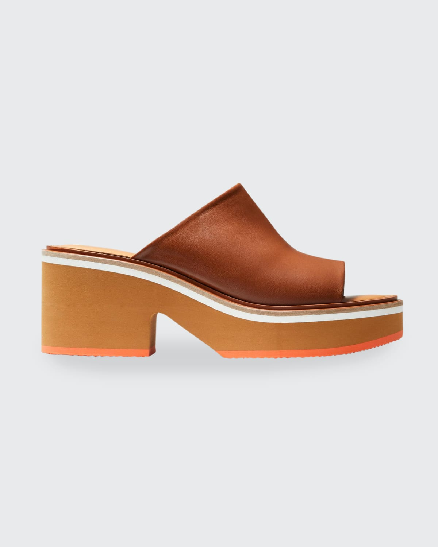 Cessy Lambskin Platform Mule Sandals
