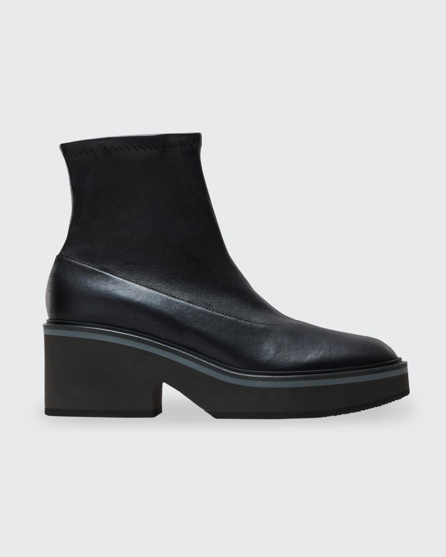 Albane Leather Sock Booties
