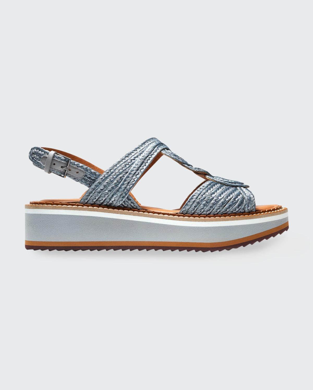 Ferdy Braided Metallic Slingback Sandals