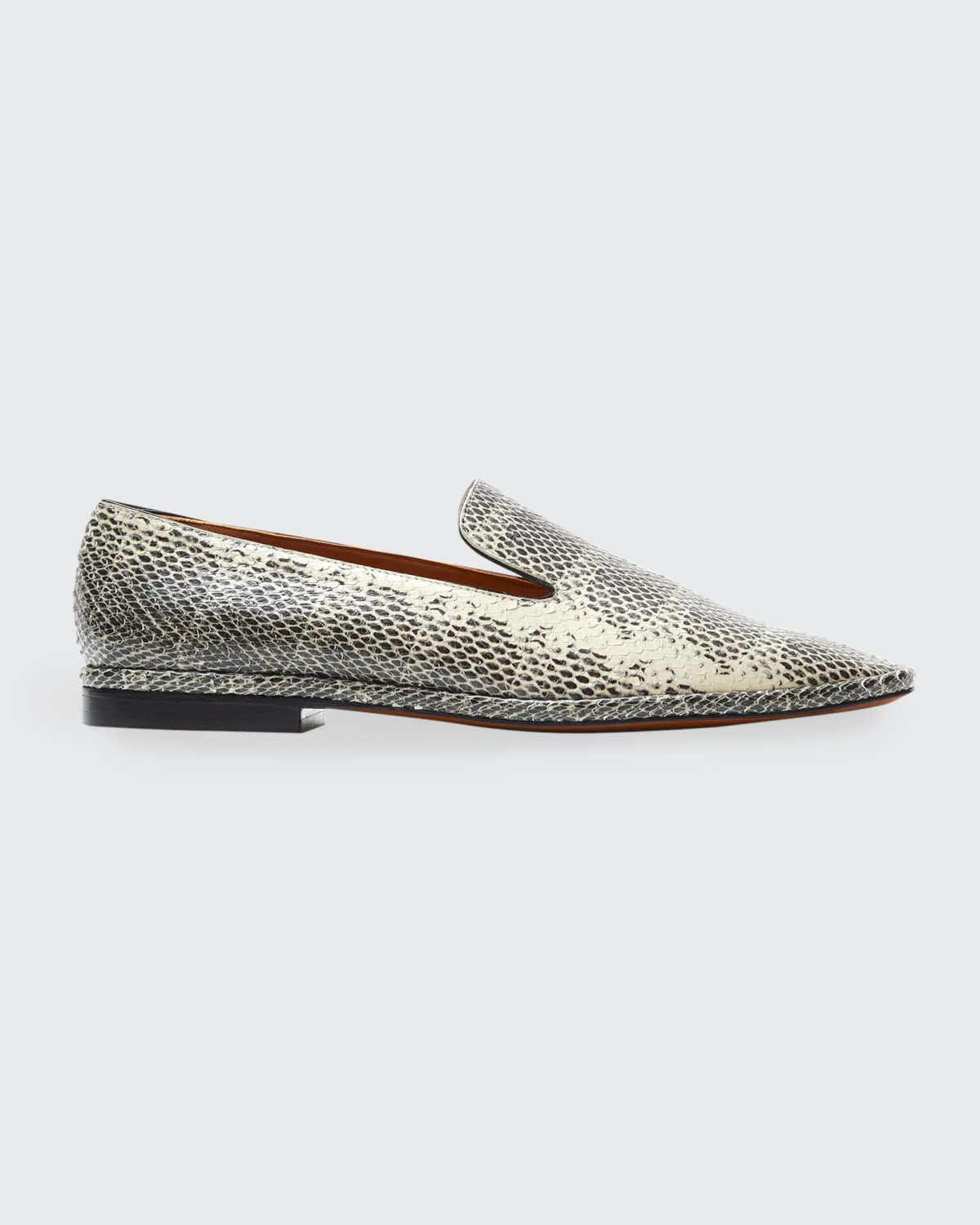 Olympia Snake-Print Flat Loafers