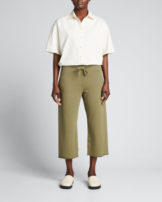 Cropped Wide-Leg Sweatpants