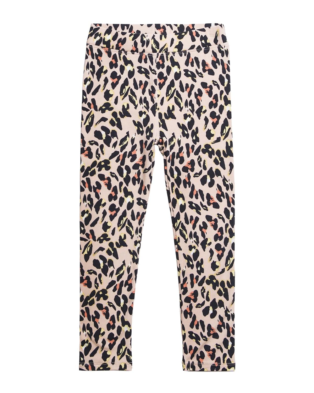 Girl's Alyssa Cheetah-Print Jersey Leggings