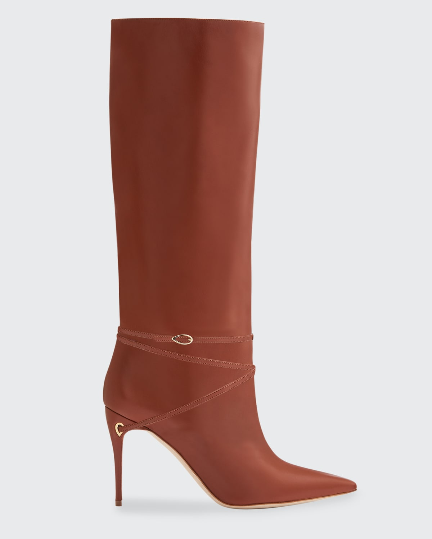 Cece Napa Ankle-Wrap Stiletto Riding Boots