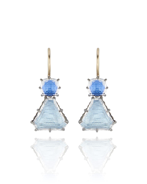 Caterina Geometric One-Drop Earrings