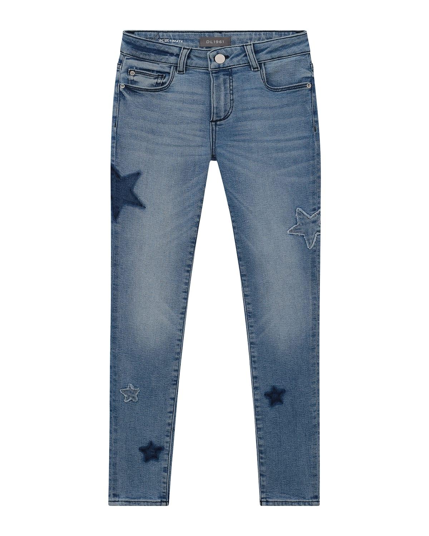 Girl's Chloe Scattered Star Skinny Denim Jeans