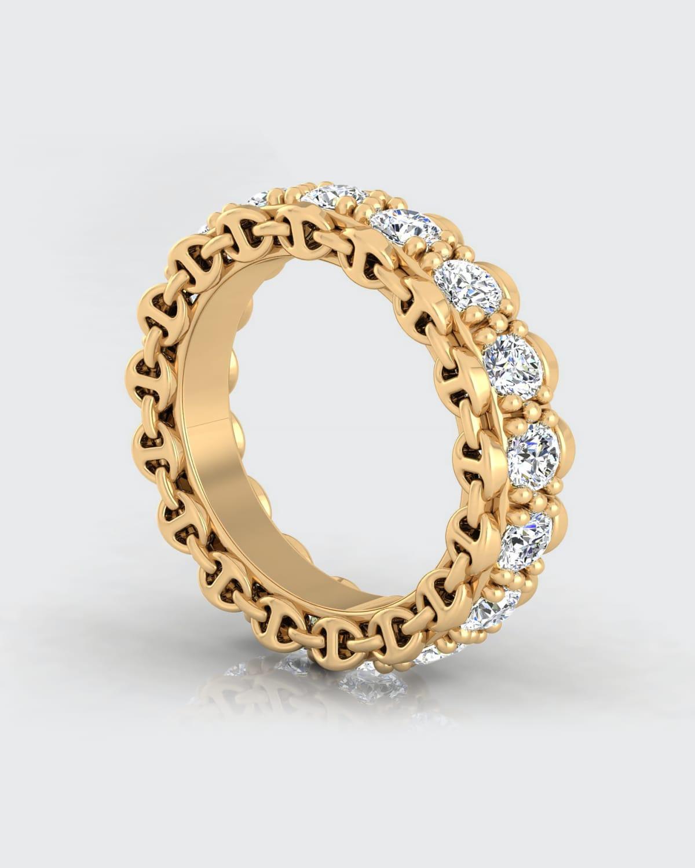 Infinite 3mm Diamond Band in White Gold