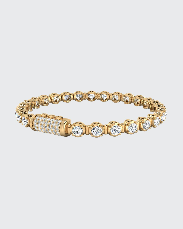 Infinite 4mm White Diamond Bracelet in Yellow Gold